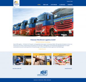 dSign Systems // Screenshot // www.pm-logistics.de